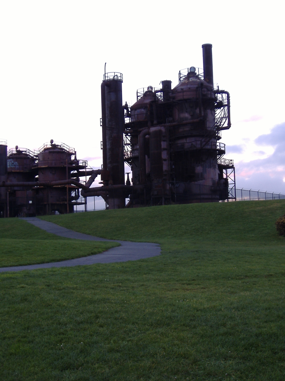 Gasworks at Dusk 1